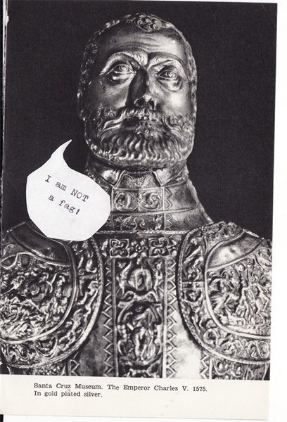 &quot;i am NOT a fag&quot; - The Emporer Charles V. 1575. In gold plated silver
